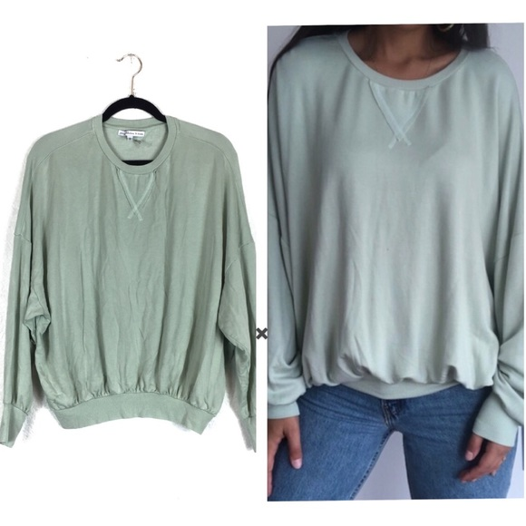 Young Fabulous & Broke Mint Drop Shoulder Sweater